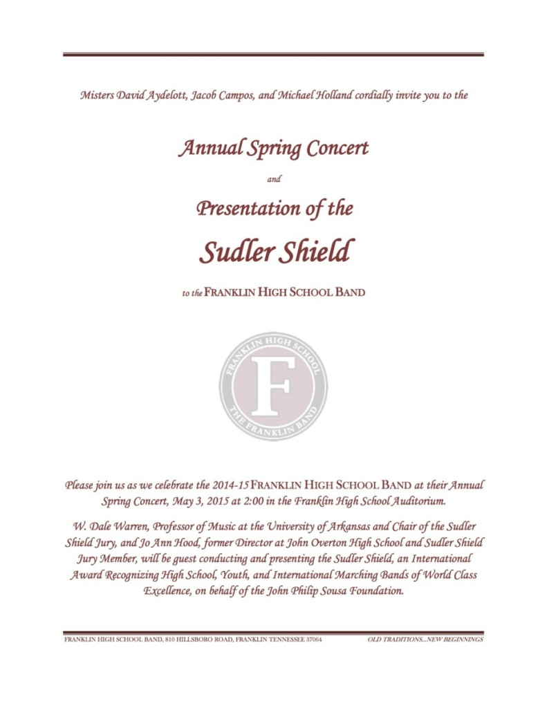 sudler invitation
